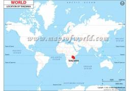 Tanzania Location Map - Digital File