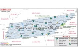 Tennessee National Parks Map - Digital File