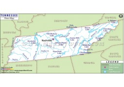 Tennessee River Map - Digital File