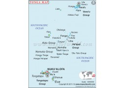 Tonga Map - Digital File