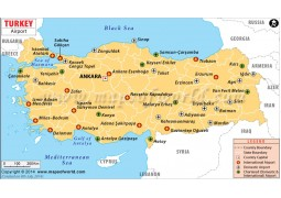 Turkey Airports Map - Digital File