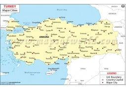 Turkey Map with Cities - Digital File