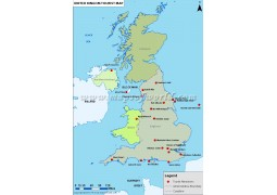 UK Tourist Attractions Map - Digital File