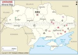 Ukraine Mineral Map - Digital File