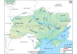 Ukraine River Map - Digital File