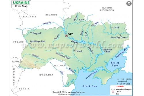 Ukraine River Map