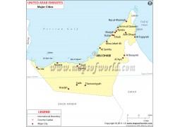UAE Cities Map - Digital File