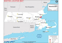 Boston Location Map - Digital File