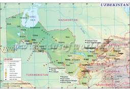 Uzbekistan Map - Digital File