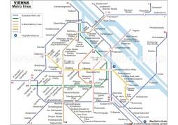 Vienna Metro Map - Digital File