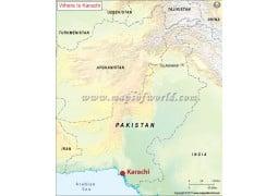 Karachi Location Map - Digital File