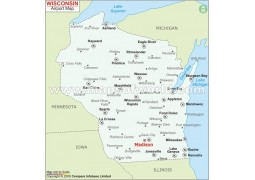 Wisconsin Airports Map - Digital File