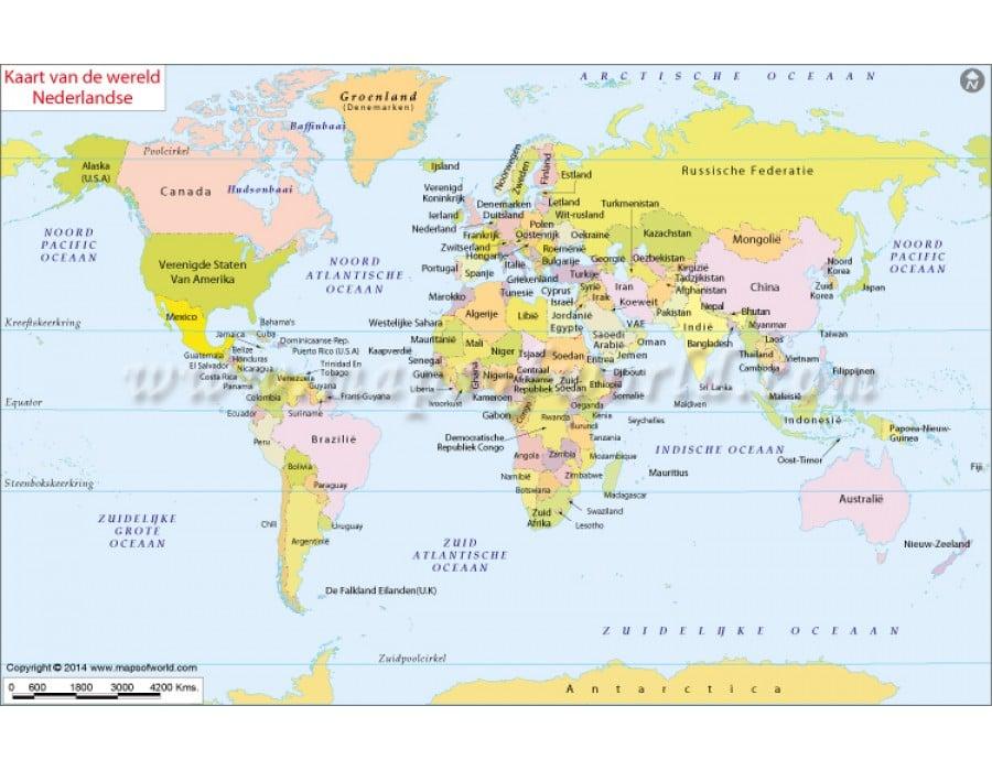 Buy dutch world map kaart van de wereld nederlandse dutch world map kaart van de wereld nederlandse gumiabroncs Choice Image