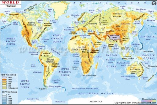 Buy physical map of the world digital world maps world physical map gumiabroncs Gallery