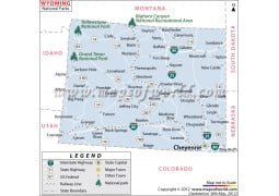 Wyoming National Parks Map - Digital File