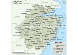 Zhejiang Province Map - Digital File