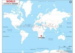 Zimbabwe Location Map - Digital File