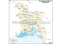 Bangladesh Road Map - Digital File