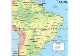 Brazil Physical Map - Digital File