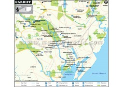 Cardiff City Map - Digital File