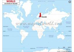 Finland Location Map - Digital File