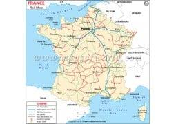 France Rail Map - Digital File