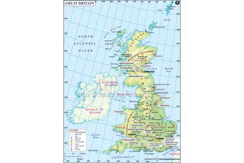 Great Britain Country Map