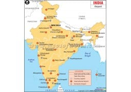 India Airport Map - Digital File