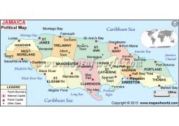 Jamaica Political Map  - Digital File