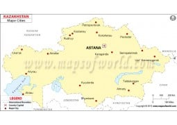 Kazakhstan Map with Cities