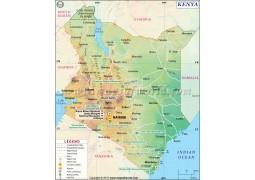 Kenya Map - Digital File