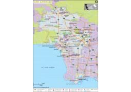 Los Angeles City Map - Digital File