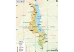 Malawi Map - Digital File