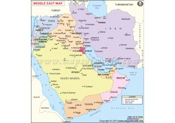 Middle East Map - Digital File