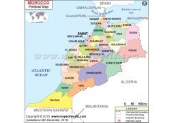Political Map of Morocco - Digital File