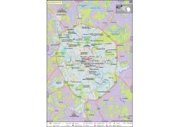 Moscow Map - Digital File