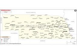 Nebraska Map with Cities - Digital File
