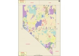Nevada Zip Code Map - Digital File