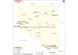Map of Nevada Cities - Digital File