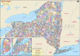 New York Zip Code Map - Digital File