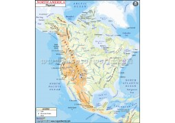 North America Physical Map - Digital File