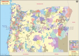 Oregon Zip Code Map