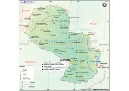 Paraguay Map - Digital File