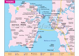 Penang City Map - Digital File