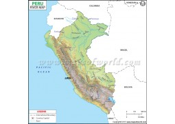 Peru River Map - Digital File