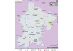 Puebla City Map - Digital File