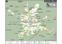 Reggio Emilia City Map - Digital File