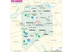San Joaquin County Map
