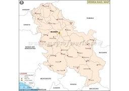 Serbia Rail Map - Digital File