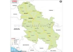 Serbia Road Map - Digital File
